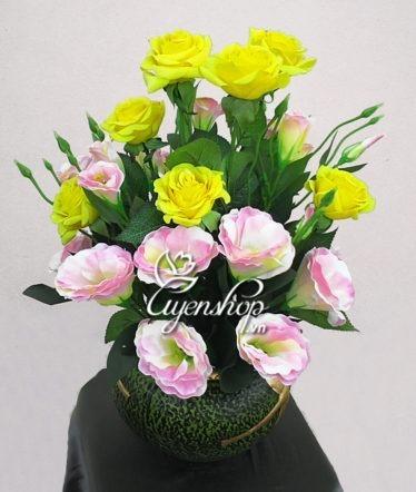 Hoa lụa, hoa giả Uyên shop, Hoa Lan Tường