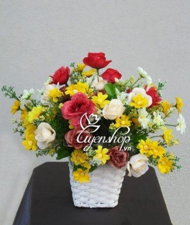 Hoa lụa, hoa giả Uyên shop, Hoa mùa xuân