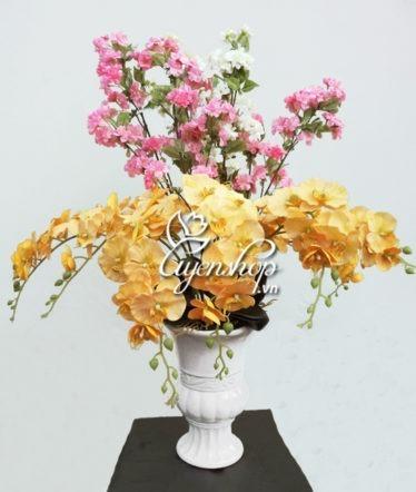 Hoa lụa, hoa giả Uyên shop, Bình Đào Lan