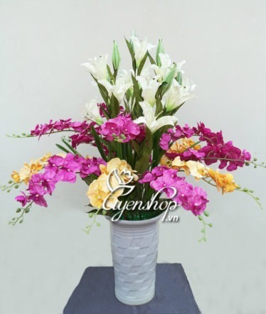 Hoa lụa, hoa giả Uyên shop, An Khang Thịnh Vượng