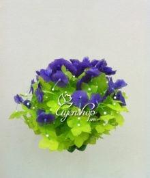 Hoa lụa, hoa giả Uyên shop, Hoa treo tường tím