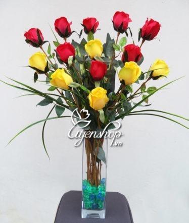 Hoa lụa, hoa giả Uyên shop, Hoa Hồng Lụa