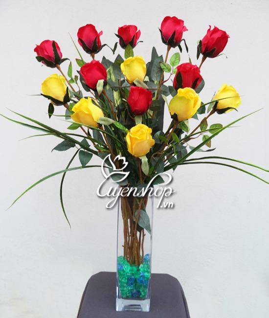 hoa hồng lụa - hoa lụa - uyenshop