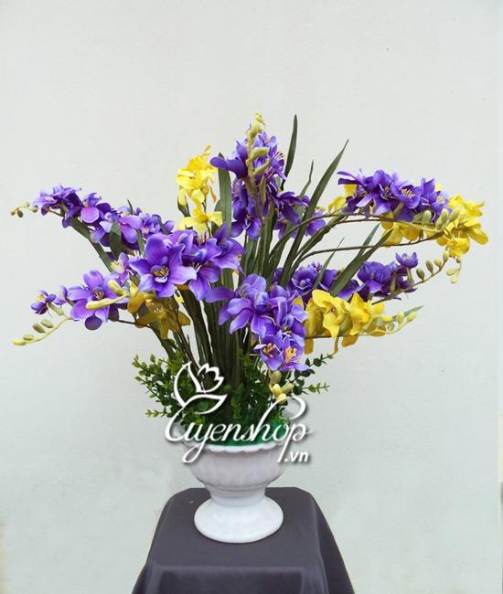 hoa lụa - hoa đỗ quyên - uyenshop