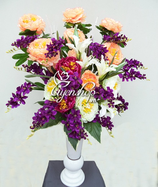 hoa lua - hoa mau don - quyen nhung - uyenshop