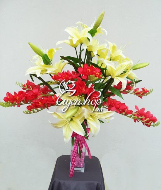 hoa ly - hoa lụa - uyenshop