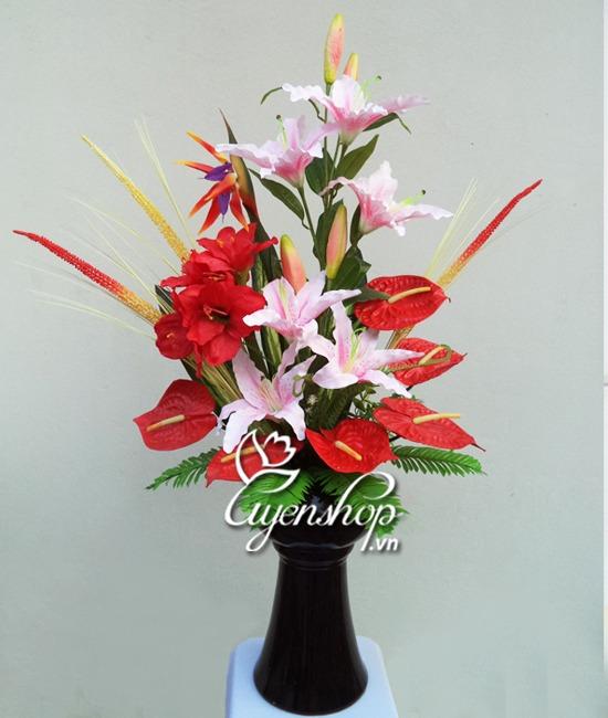 hoa nghệ thuật - hoa lụa - uyenshop.vn