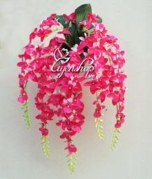 Hoa lụa, hoa giả Uyên shop, Hoa Lan treo tường
