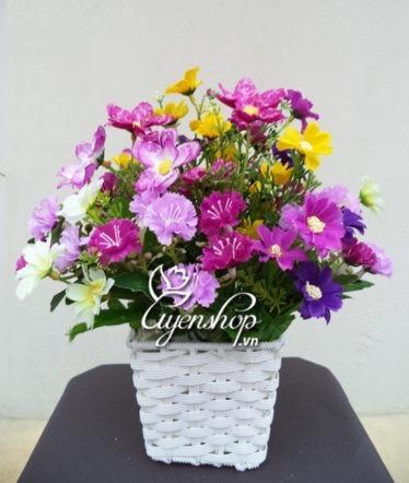 Hoa lụa, hoa giả Uyên shop, Sắc tím