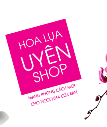 Hoa lụa, hoa giả Uyên shop, Banner tet 2015