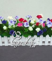 Hoa lụa, hoa giả Uyên shop, Hàng rào hoa