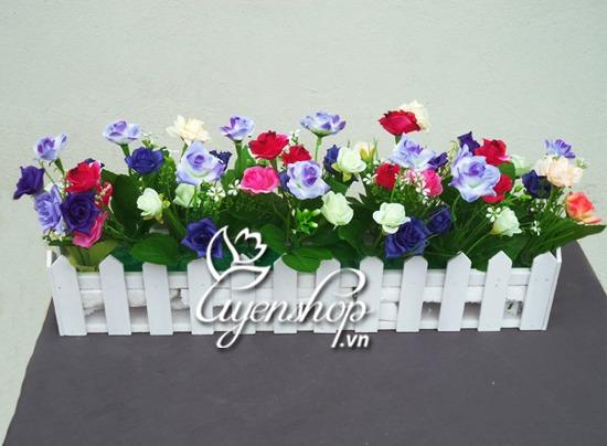 hang rao hoa - hoa lua - uyenshop