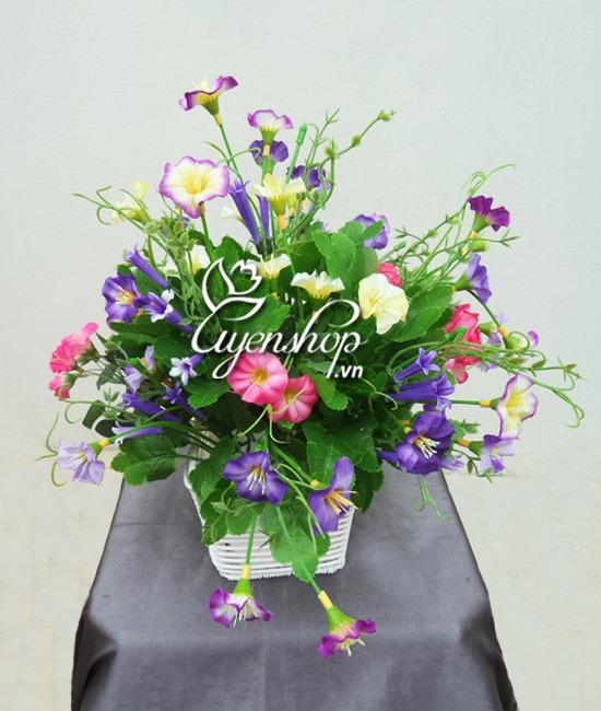 hoa dep de ban - hoa lụa - uyenshop