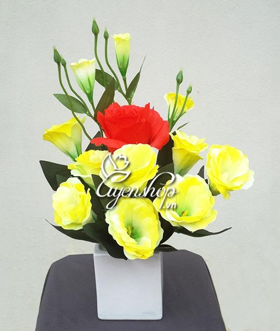 hoa lụa - hoa cát tường - uyenshop