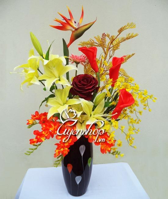 hoa lụa - hoa nghệ thuật - uyenshop
