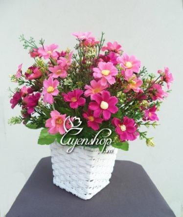 Hoa lụa, hoa giả Uyên shop, Sắc hồng