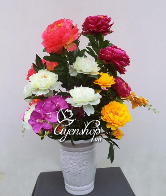 hoa mau don - phong khach - hoa lua - uyenshop