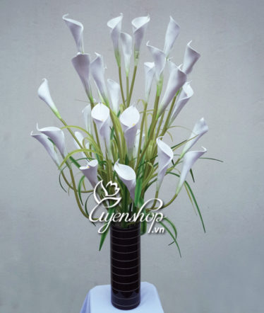 Hoa lụa, hoa giả Uyên shop, Hoa Rum trắng