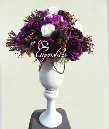 Hoa lụa, hoa giả Uyên shop, Ly Hồng Tím