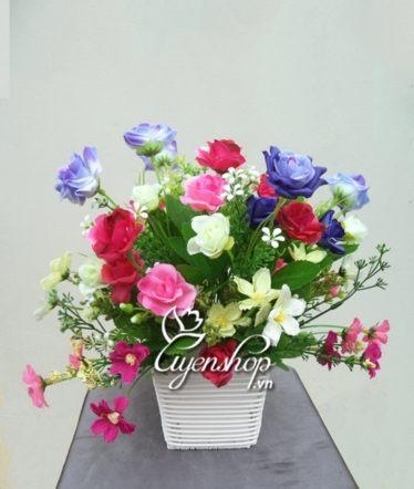 Hoa lụa, hoa giả Uyên shop, Sắc đẹp hoa