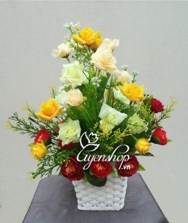 Hoa lụa, hoa giả Uyên shop, Sắc vàng