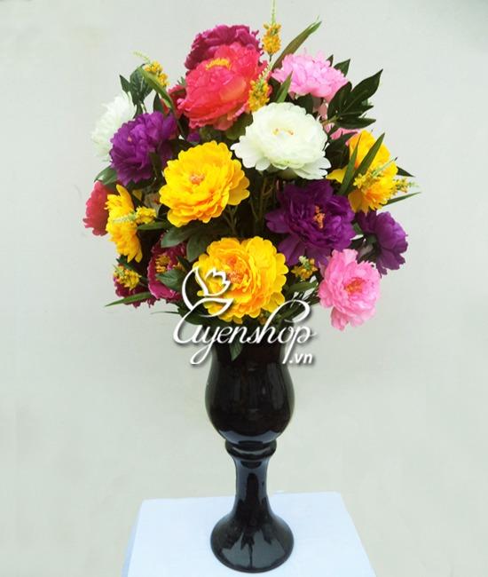 hoa lụa - hoa mẫu đơn - uyenshop
