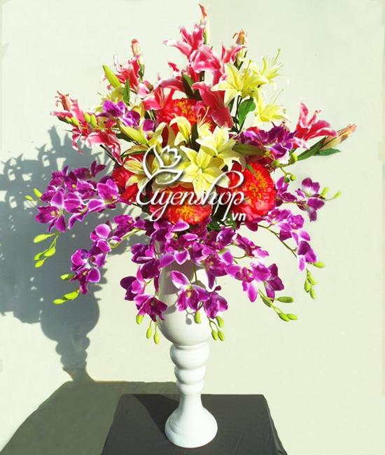 binh hoa lon - hoa lua uyenshop