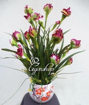 Hoa lụa, hoa giả Uyên shop, Vẻ đep Diên Vĩ