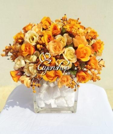 Hoa lụa, hoa giả Uyên shop, Hoa Hồng tỉ muội