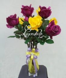 Hoa lụa, hoa giả Uyên shop, Hoa Hồng đẹp