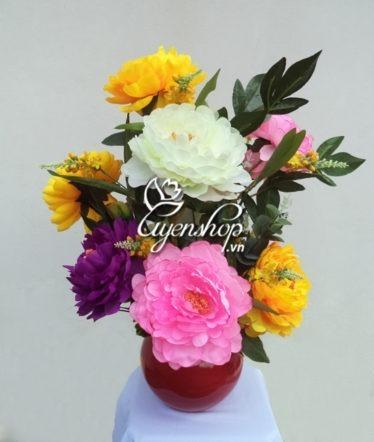 Hoa lụa, hoa giả Uyên shop, Hoa Mẫu Đơn