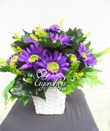Hoa lụa, hoa giả Uyên shop, Hướng Dương tím