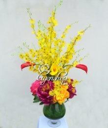 Hoa lụa, hoa giả Uyên shop, Hoa phòng khách