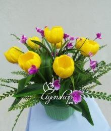 Hoa lụa, hoa giả Uyên shop, Tulip nhỏ