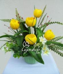 Hoa lụa, hoa giả Uyên shop, Tulip để bàn
