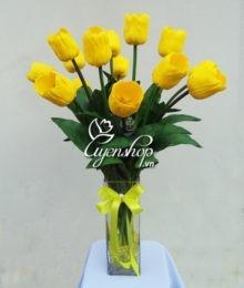 Hoa lụa, hoa giả Uyên shop, Tulip bình lớn