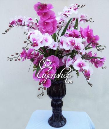Hoa lụa, hoa giả Uyên shop, Bình Lan Hồ Điệp