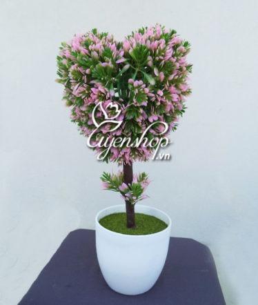 Hoa lụa, hoa giả Uyên shop, Cây trái tim