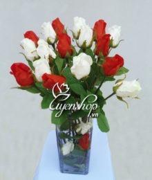 Hoa lụa, hoa giả Uyên shop, Ngẫu hứng cùng Hồng