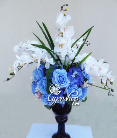 Hoa lụa, hoa giả Uyên shop, Hoa đẹp phòng khách