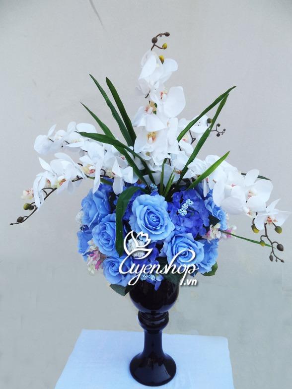 hoa lan - hong xanh - hoa lua uyenshop