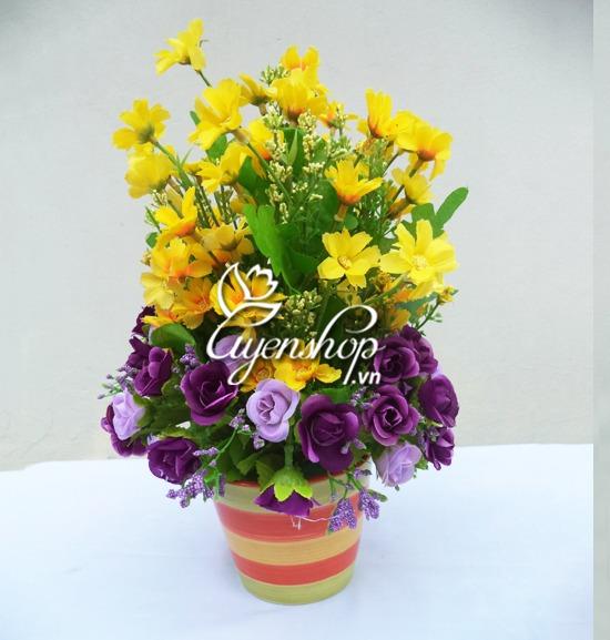 hoa gia - chau hoa tim - uyenshop
