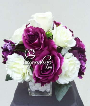 Hoa lụa, hoa giả Uyên shop, Hồng Tú Cầu