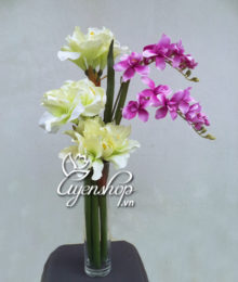Hoa lụa, hoa giả Uyên shop, Vẻ đẹp Huệ Lan
