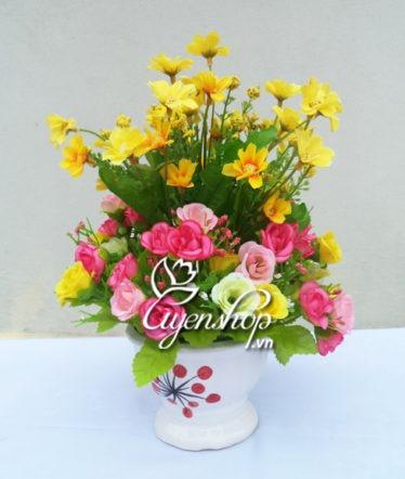 Hoa lụa, hoa giả Uyên shop, Trẻ trung