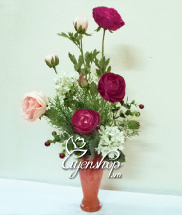 Hoa lụa, hoa giả Uyên shop, Ly hoa Trà