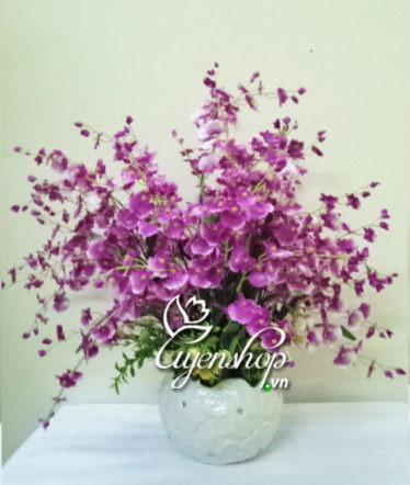 Hoa lụa, hoa giả Uyên shop, Hoa vũ nữ tím