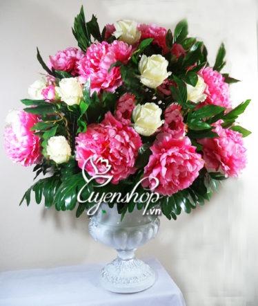 Hoa lụa, hoa giả Uyên shop, Phát tài phát lộc