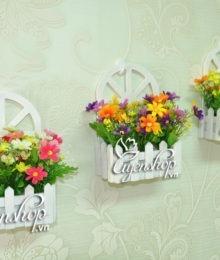 Hoa lụa, hoa giả Uyên shop, Giỏ treo khung cửa sổ