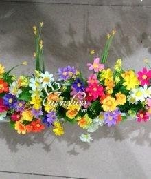 Hoa lụa, hoa giả Uyên shop, Hàng rào hoa đa sắc